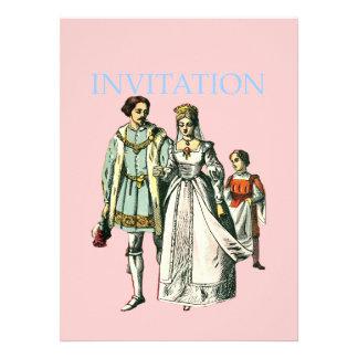 Senhor e senhora medievais do da ilustração do e convites