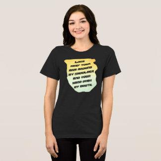 Senhor Mantimento Seu Braço -- T-shirt FlairNFunny Camiseta