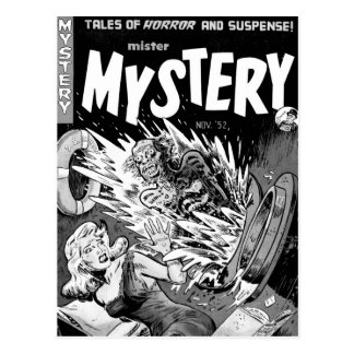 Senhor Mistério da banda desenhada do vintage do k Cartões Postais