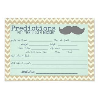 Senhor pequeno Babyshower Previsão Convite 8.89 X 12.7cm