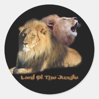 Senhor Selva Etiqueta do leão Adesivo