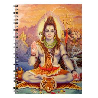Senhor Shiva Meditating Caderno