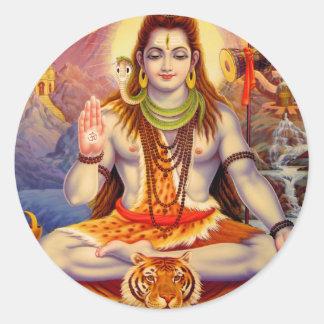 Senhor Shiva Meditating Etiqueta