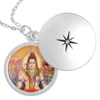 Senhor Shiva Meditating Locket Colar Medalhão