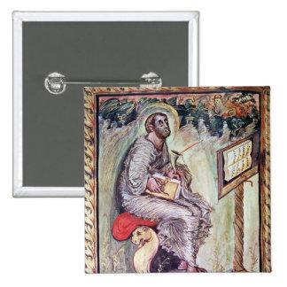 Senhora 1 fol.90v St Luke, dos evangelho de Ebbo Bóton Quadrado 5.08cm