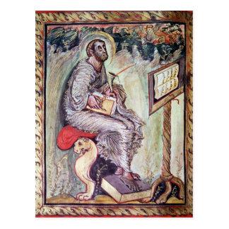 Senhora 1 fol.90v St Luke, dos evangelho de Ebbo Cartão Postal