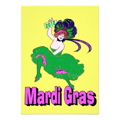 Senhora 2010 do carnaval convite personalizados