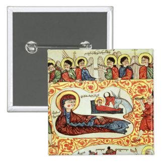 Senhora 404 fol.1v a natividade, de um evangelho bóton quadrado 5.08cm