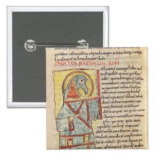 Senhora 8 f.95v St John o evangelista Bóton Quadrado 5.08cm