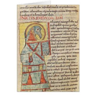 Senhora 8 f.95v St John o evangelista Cartão Comemorativo
