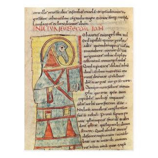 Senhora 8 f.95v St John o evangelista Cartão Postal