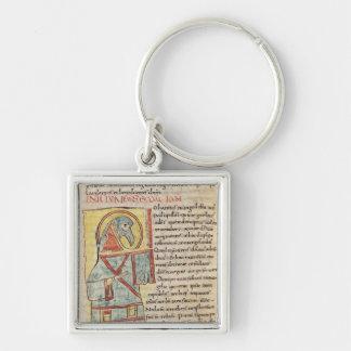 Senhora 8 f.95v St John o evangelista Chaveiro Quadrado Na Cor Prata