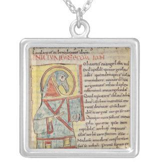 Senhora 8 f.95v St John o evangelista Colar Com Pendente Quadrado