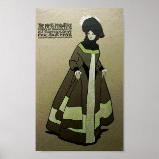 Senhora Anúncio Poster do Victorian do vintage Pôster