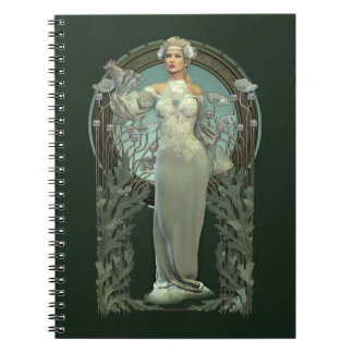 Senhora branca Caderno de Nouveau da arte