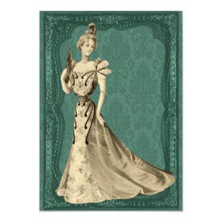 Senhora Casamento Convite do Victorian