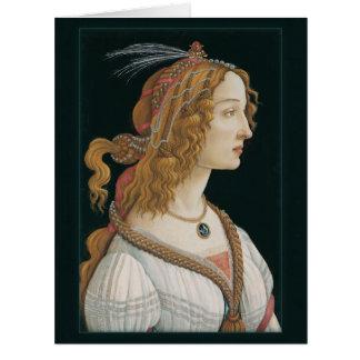 Senhora CC0283 de Sandro Botticelli grande Cartão Comemorativo Grande