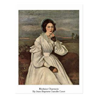 Senhora Charmois Jean-Baptiste Camilo Corot Cartão Postal