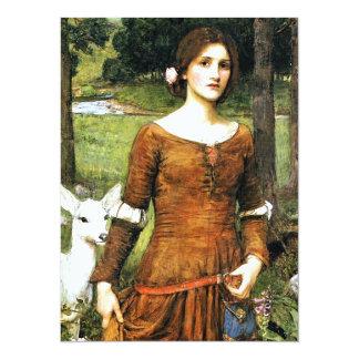 Senhora Clare e a jovem corça Convite 13.97 X 19.05cm