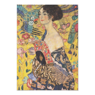 Senhora Com Fã Convite de Gustavo Klimt