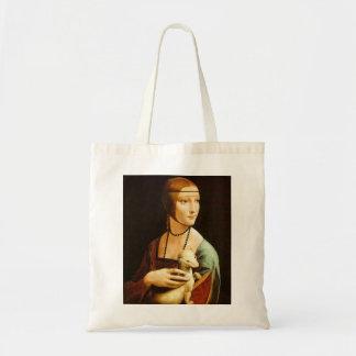 Senhora com um arminho, Leonardo da Vinci Sacola Tote Budget