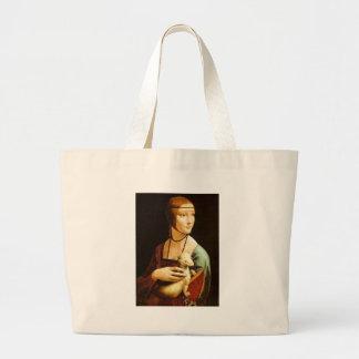 Senhora com um arminho por Leonardo da Vinci C. 14 Bolsa Para Compras