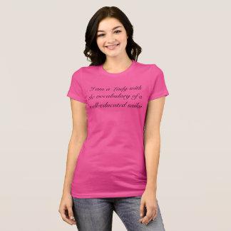 Senhora com vocabulário de um marinheiro camiseta