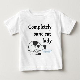 Senhora completamente sã do gato camiseta