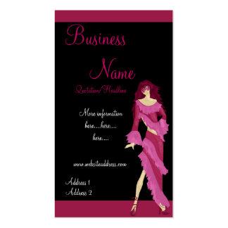 Senhora cor-de-rosa cartões de visitas da forma do