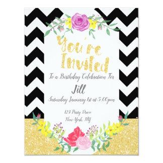 Senhora corajosa Aniversário Convite