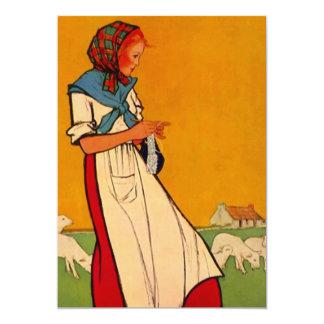 Senhora Crafting ocupada do chá de panela esperto Convite 12.7 X 17.78cm