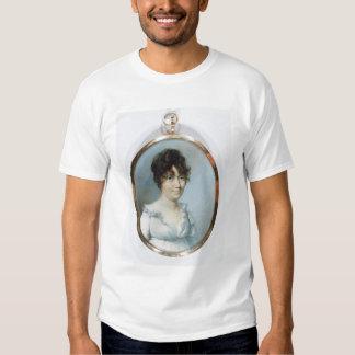 Senhora da família sem corte (w/c e gouache no camiseta