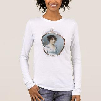Senhora da família sem corte (w/c e gouache no camiseta manga longa