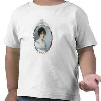 Senhora da família sem corte (w/c e gouache no mar tshirts