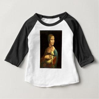 Senhora da pintura de Da Vinci original com um Camiseta Para Bebê