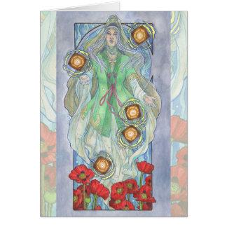 Senhora da série de Nouveau Birthstone da arte de Cartão