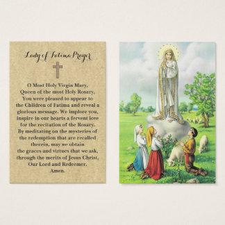 senhora de 100 x de cartões da oração de Fatima