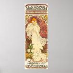 Senhora de Alphonse Mucha do poster de Camelias