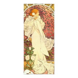 Senhora de Alphonse Mucha dos convites de Camelias