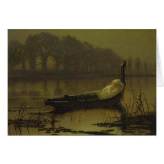 Senhora de Atkinson Grimshaw do cartão de Shalott