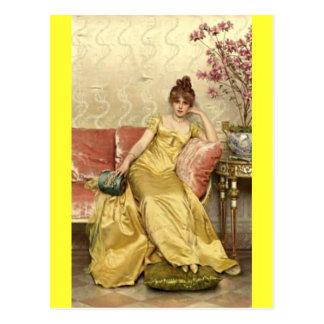 Senhora de descanso - Soulacroix Cartao Postal
