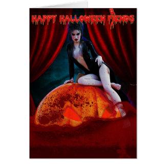 Senhora de Elvira do cartão escuro do Dia das