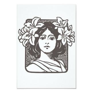 Senhora de Nouveau da arte - chás de panela Convite Personalizado