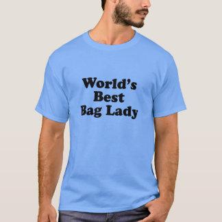 Senhora de saco do mundo a melhor camiseta