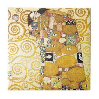 Senhora de sono Cerâmica de Gustavo Klimt Azulejo Quadrado Pequeno