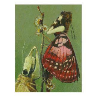 Senhora desagradável gótico Cartão da traça