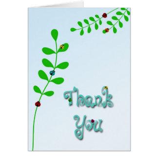 Senhora Desinsetar Agradecimento Você Cartões