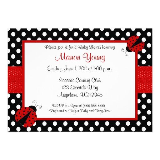 Senhora Desinsetar Bebê ou chá de panela Convite Personalizado