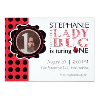 Senhora Desinsetar Primeiro Aniversário Convite