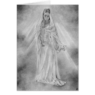 Senhora do cartão claro da Aurora